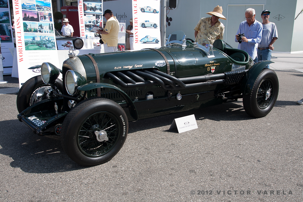 "1924 Bentley 3/8 Litre ""Hawkeye Special"", the ""3/8"" number configuration - 3 litre chassis fitted with an 8 litre engine – 2012 Rodeo Drive Concours d'Elegance. © 2012 Victor Varela"