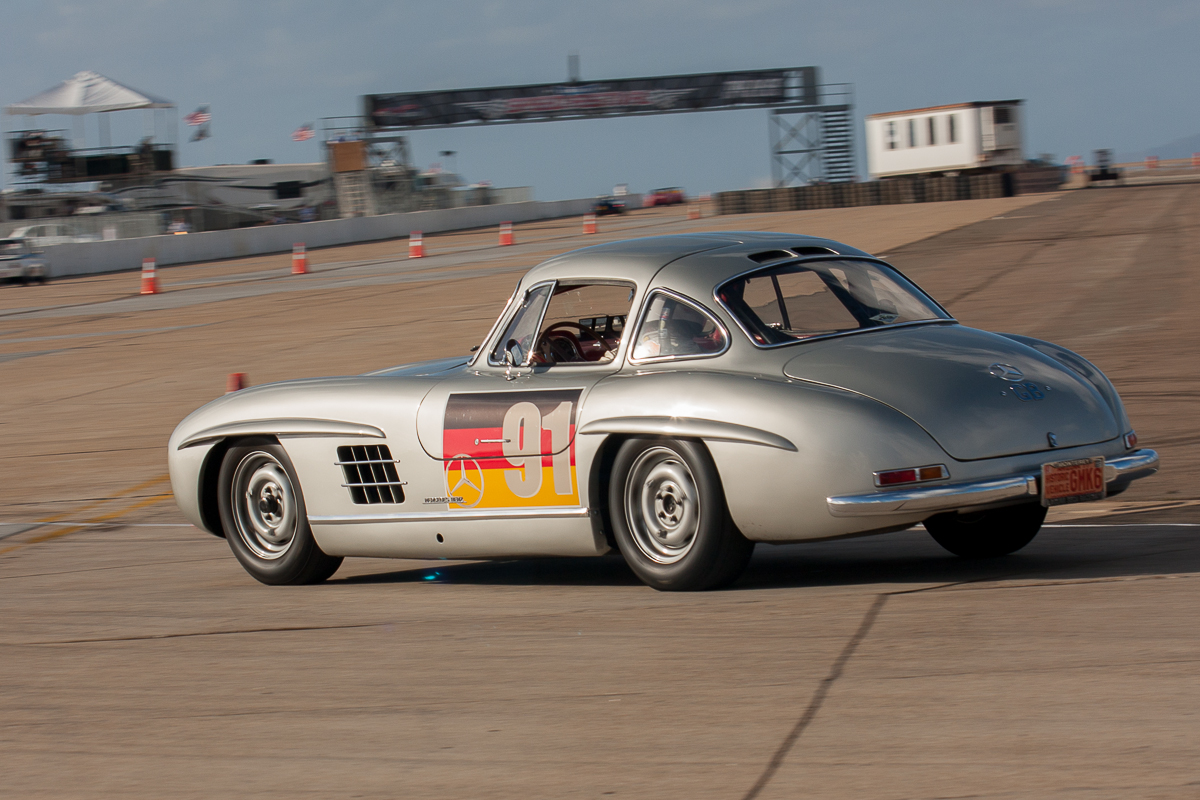 Alex Curtis' 1955 Mercedes 300 SL during Sunday practice.