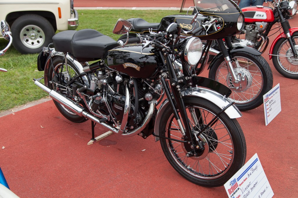 1951 Vincent Black Shadow, owned by Mike Begley.  ©  2014 Victor Varela