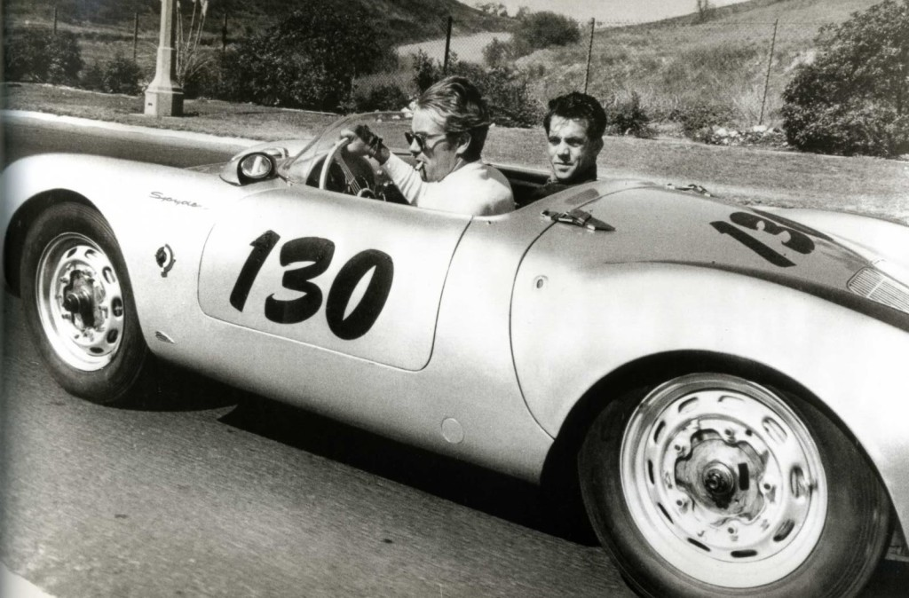 James Dean in his Porsche 550 Spyder Little Bastard